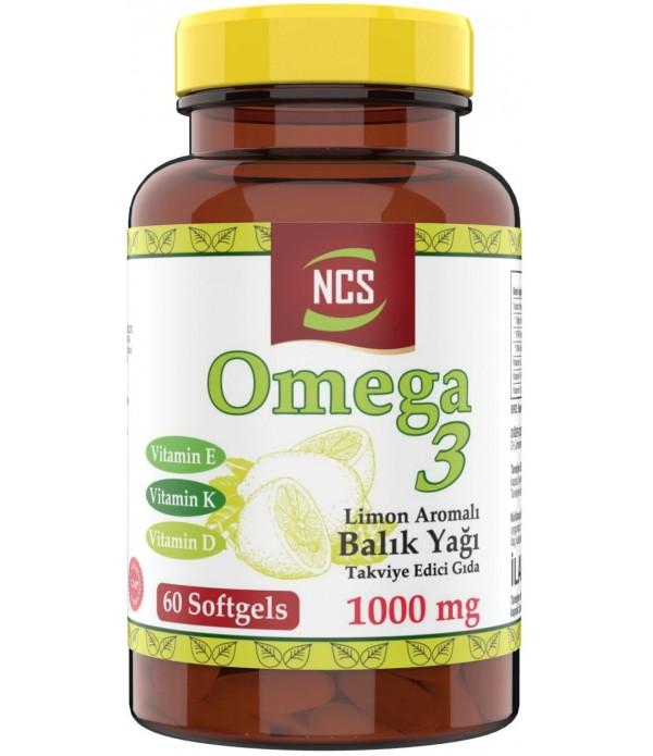 Ncs Limon Aromalı Omega 3 Balık Yağı 1000 Mg V...