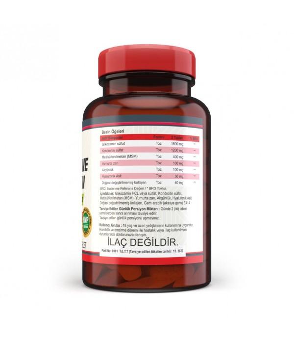 Newfix Glukozamin Sülfat Kondrotin Sülfat Msm Hyaluronik Asit Yumurta Kabuğu Zarı AkGünlük Kollajen 120 Tablet
