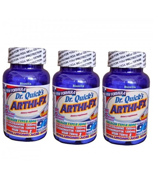 Dr Quicks Arthi-fx Glucosamine Chondroitin Msm Hya...